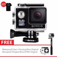 BRICA B-PRO 5 Alpha Edition Version 2 Mark IIs (AE2s) 4K WIFI Action Camera + Tongsis Brica Original - Hitam