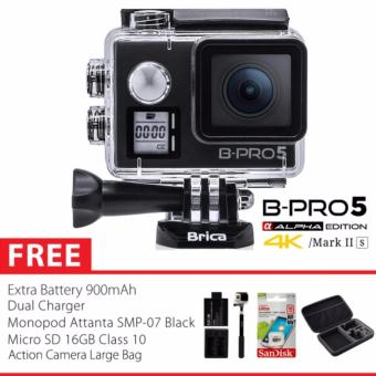 BRICA B-PRO 5 Alpha Edition Version 2S - AE 2S 4K WIFI Action Camera - HITAM Combo Extreme Large