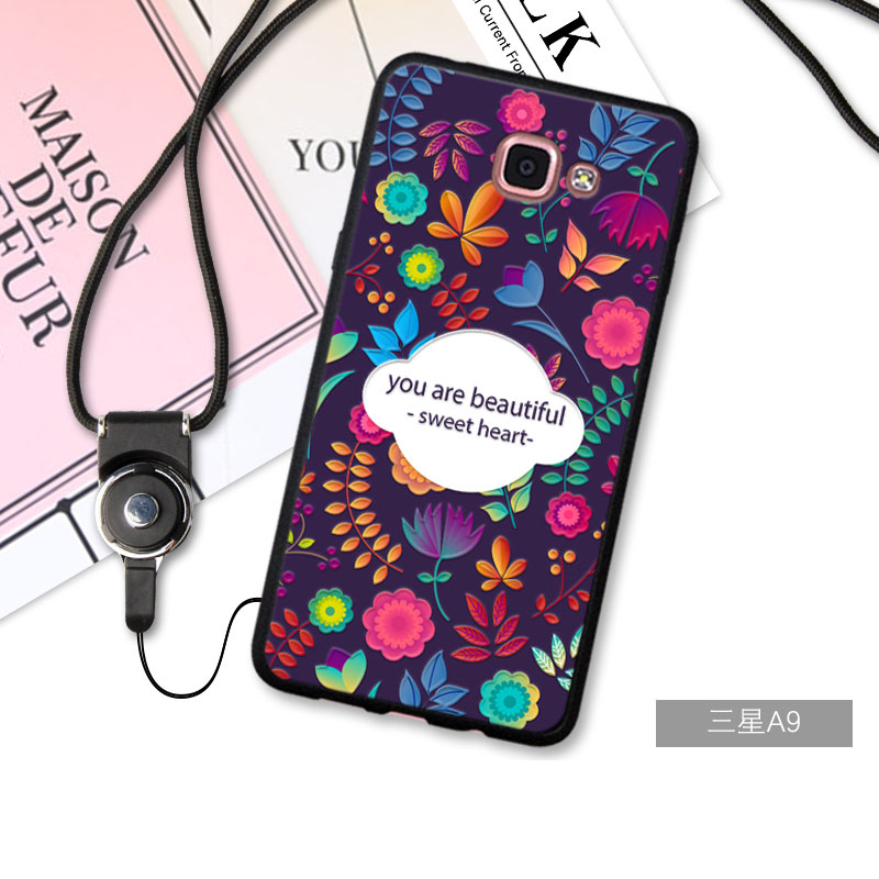 BUILDPHONE 3D Relief Silica Gel Soft Phone Case for Samsung GalaxyA9100/A9pro (Multicolor)