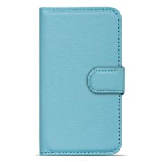 Buildphone PU Leather Phone Plain Warna Cover Case untuk Lenovo S60 (biru)-Intl