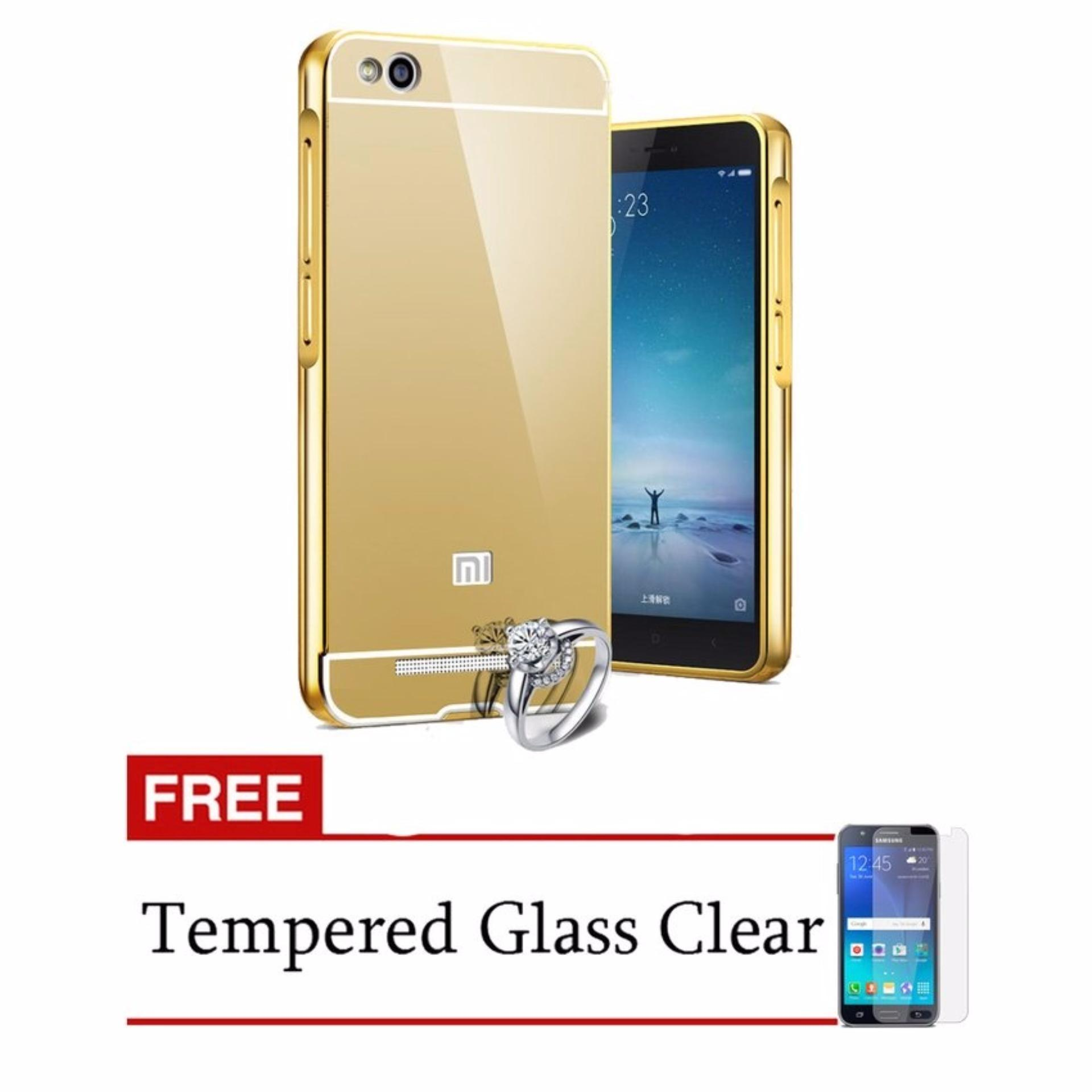 Bumper Mirror Xiaomi Redmi 4A + Free Tempered Glass