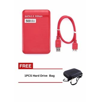 Buy1 Free 1 500 GB USB 3.0 SATA Eksternal Hard Disk Drive HDD 6 Gbps untuk