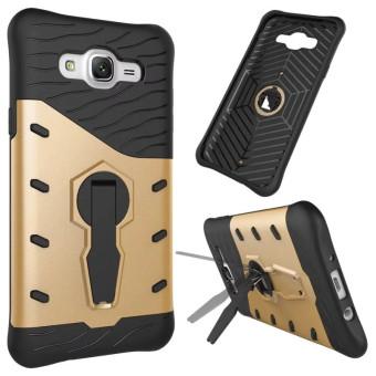 BYT 360 Degree Rotating Armor Hybrid Phone Case for Samsung GalaxyJ7 (2015) (Gold