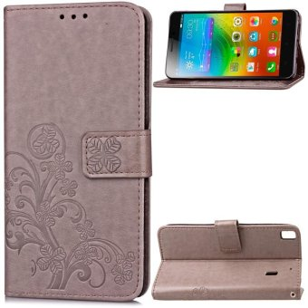 BYT Flower Debossed Leather Flip Cover Case for Lenovo K3 Note - intl