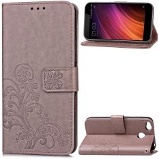 BYT Flower Debossed Leather Flip Cover Case for Xiaomi Redmi 4X - intl