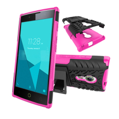 BYT Rugged Dazzle Case for Alcatel One Touch Flash 2 with Kickstand(Rose)
