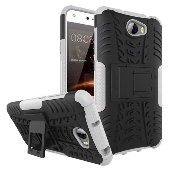BYT Rugged Dazzle Case for Huawei Y5 II with Kickstand (White)