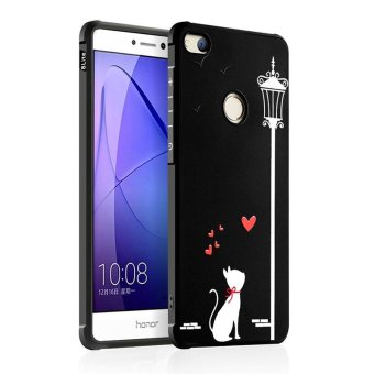 BYT Silicon Debossed Printing Cover Case for Huawei Honor 8 Lite /P8 Lite (2017