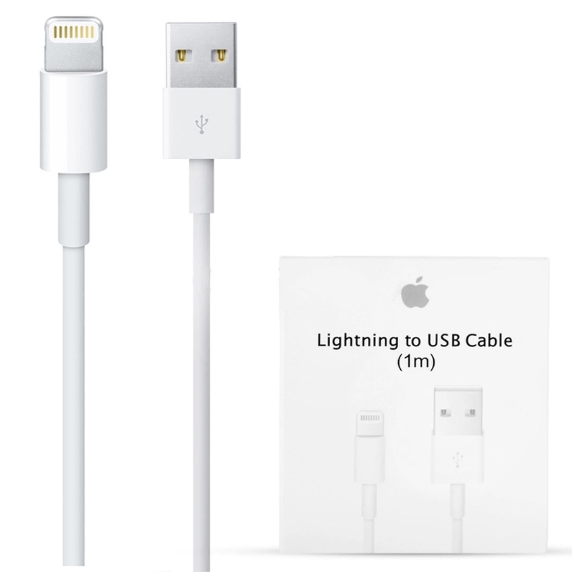 Cable Data Apple Original 100% Authentic Kabel Lightning For Iphone 5/6/6+ Support IOS 8 itunes - Putih