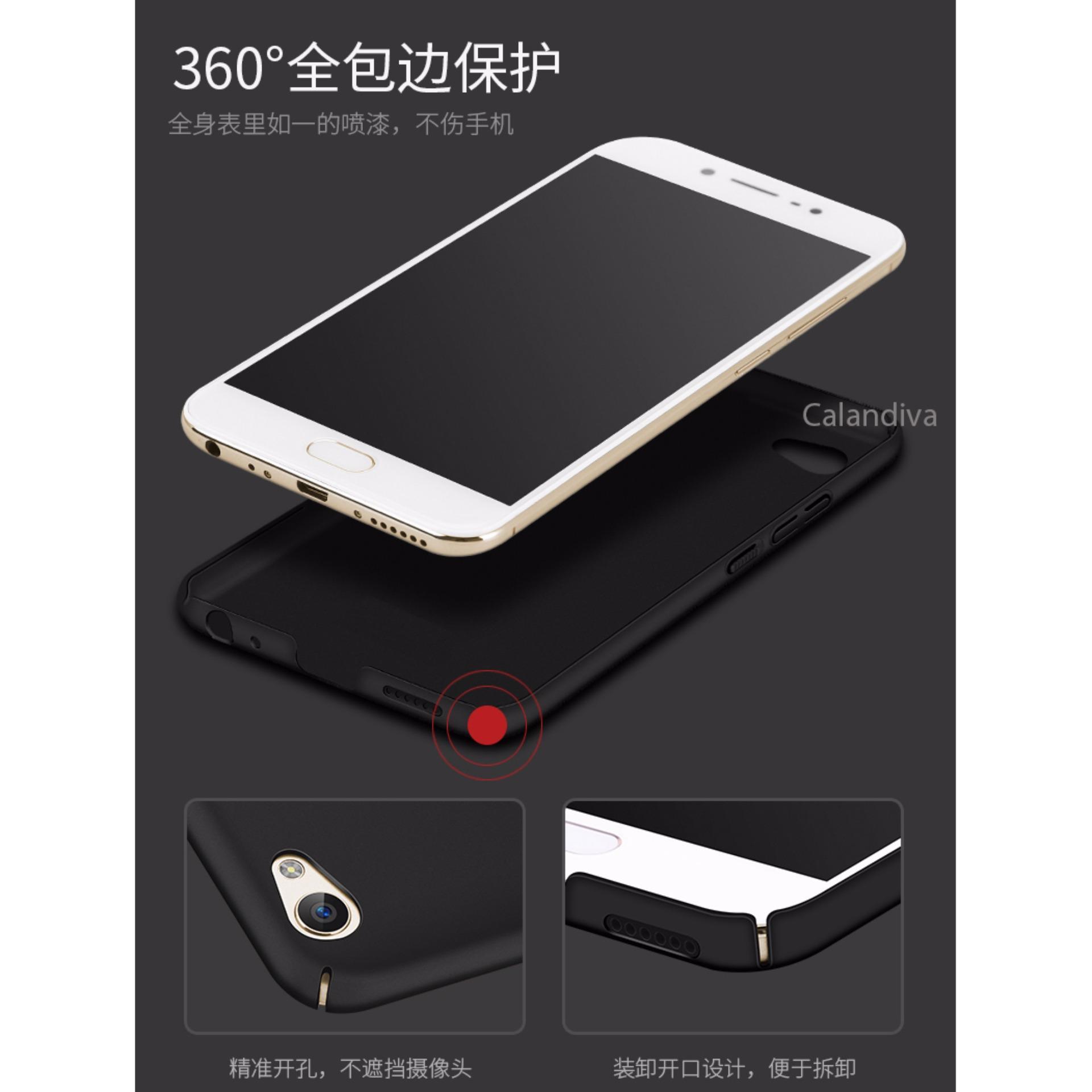Calandiva 360 Degree Protection Slim HardCase for VIVO V5 / V5s / V5 Lite - Hitam