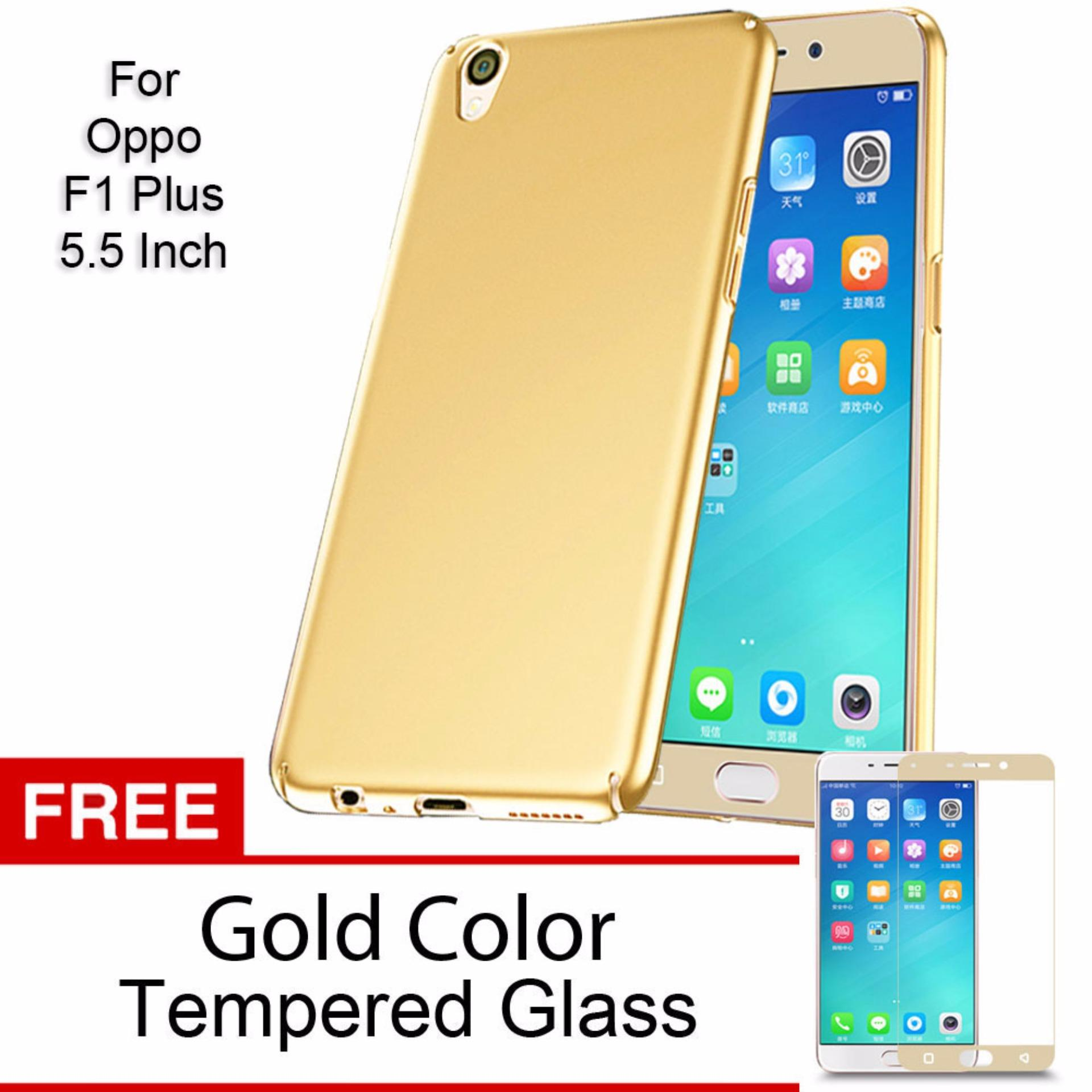 Case For Oppo F1 Plus 55 Inch Gold Source Tempered Glass For Oppo .