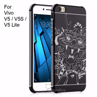 Calandiva Dragon Shockproof Hybrid Case for VIVO V5 / V5 Lite / V5s - Hitam