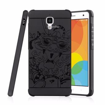 Calandiva Dragon Shockproof Hybrid Case for Xiaomi Mi 4 / Mi 4W 5.0 Inch - Hitam
