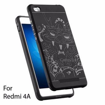 Calandiva Dragon Shockproof Hybrid Case for Xiaomi Redmi 4A / Redmi 4A Prime - Hitam