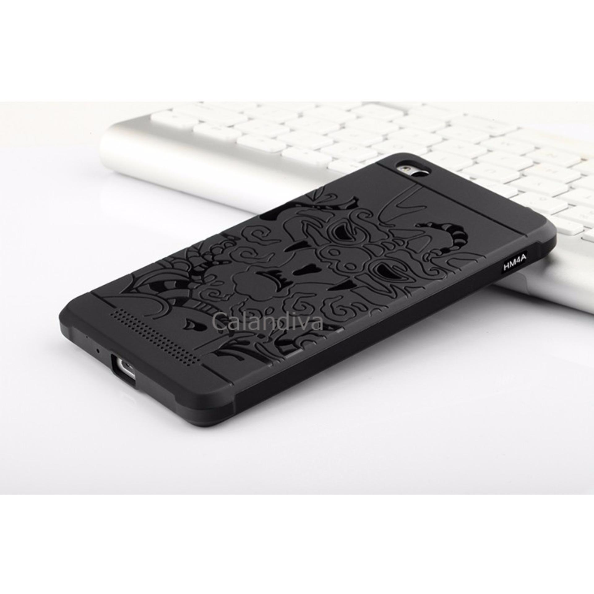 ... Calandiva Dragon Shockproof Hybrid Case for Xiaomi Redmi 4A / Redmi 4A Prime - Hitam + ...