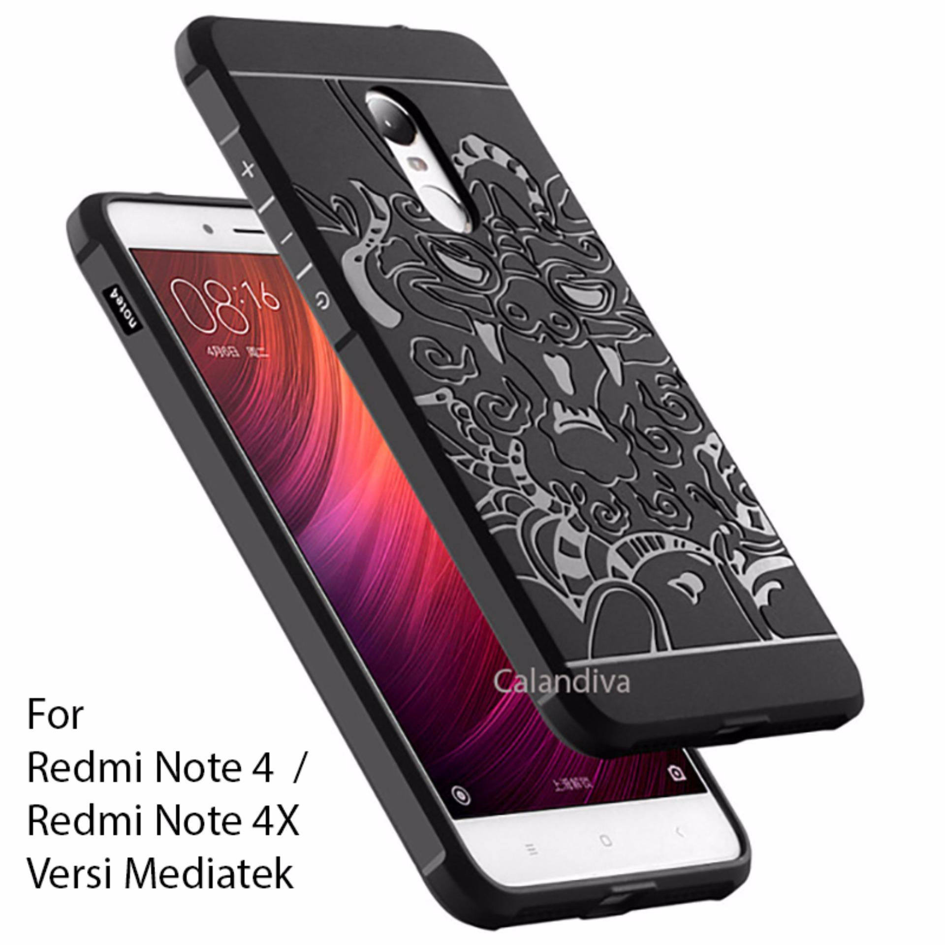... Calandiva Dragon Shockproof Hybrid Case for Xiaomi Redmi Note 4 Mediatek Redmi Note 4x Mediatek Hitam