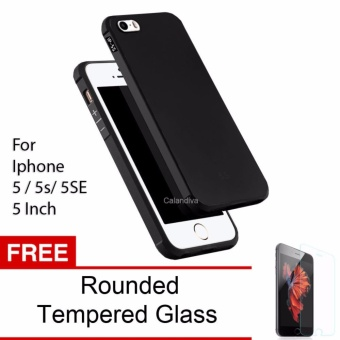 Gambar Calandiva Shockproof Hybrid Case for Iphone 5 5s 5 SE 4 Inch Hitam + Rounded
