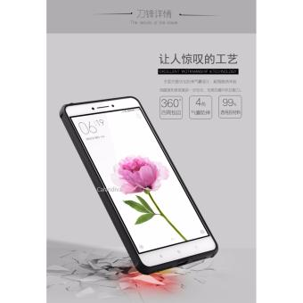 ... Calandiva Shockproof Hybrid Case for Xiaomi Mi Max 6.44 Inch - Hitam + Rounded Tempered Glass ...