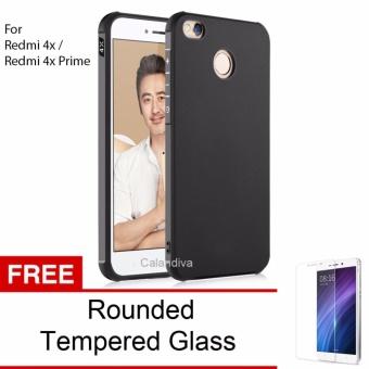 Calandiva Shockproof Hybrid Case for Xiaomi Redmi 4X / Redmi 4X Prime 5.0 inch - Hitam