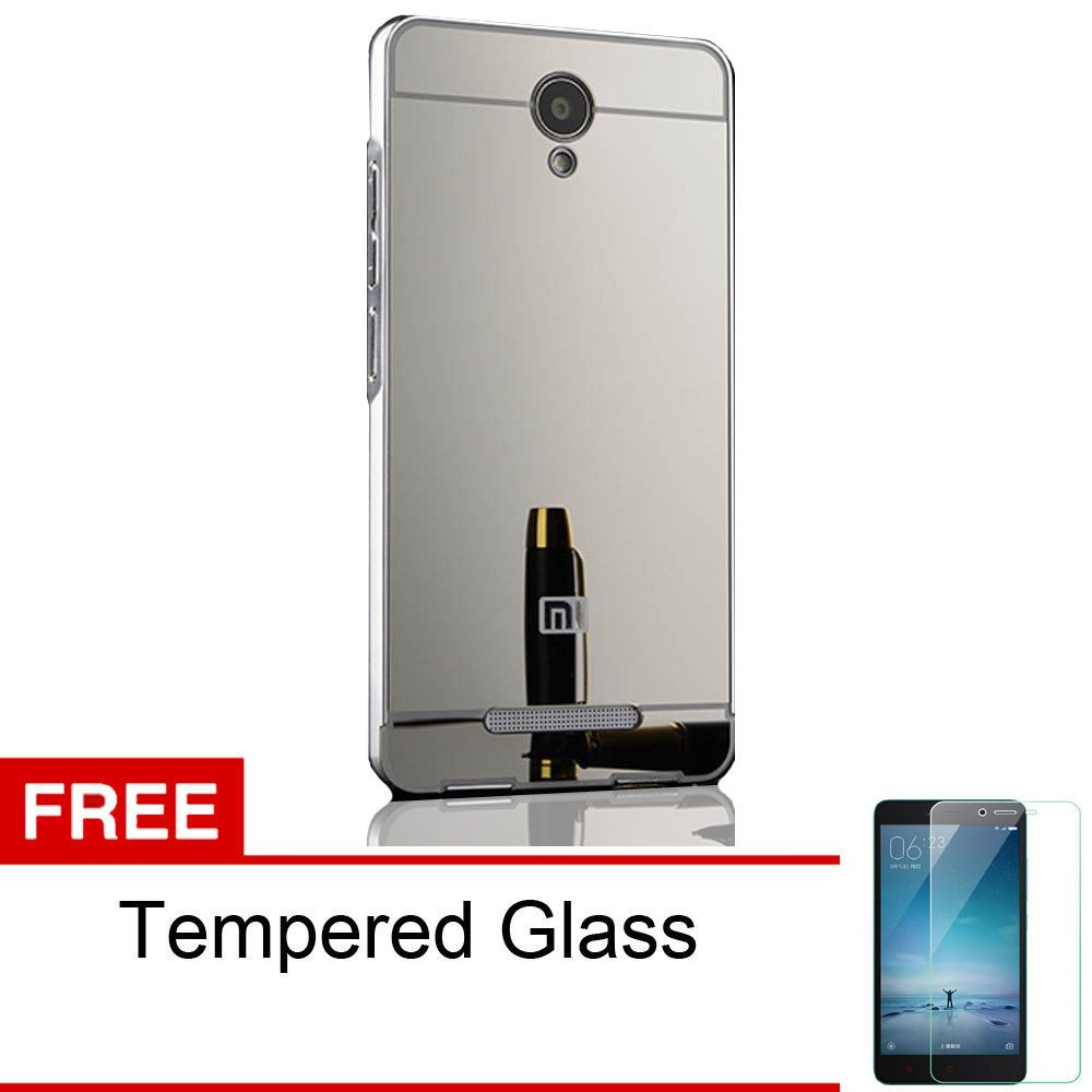 Luxury Xiaomi Redmi Note 2 Mirror Backcase With Metal Bumper Rose Casing Handphone Back Tempered Glass Series For Golden Free Source Spek Harga Calandiva