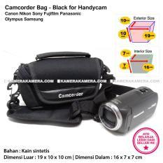 Camcorder Bag Black for Handycam Canon Nikon Sony Fujifilm Panasonic Olympus Samsung