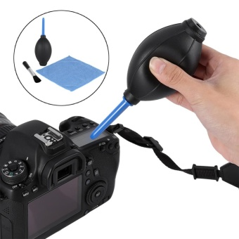 Camera Lens Screen Cleaning Dust Blower Brush Cleaning Cloth KitFor DSLR Cameras - intl