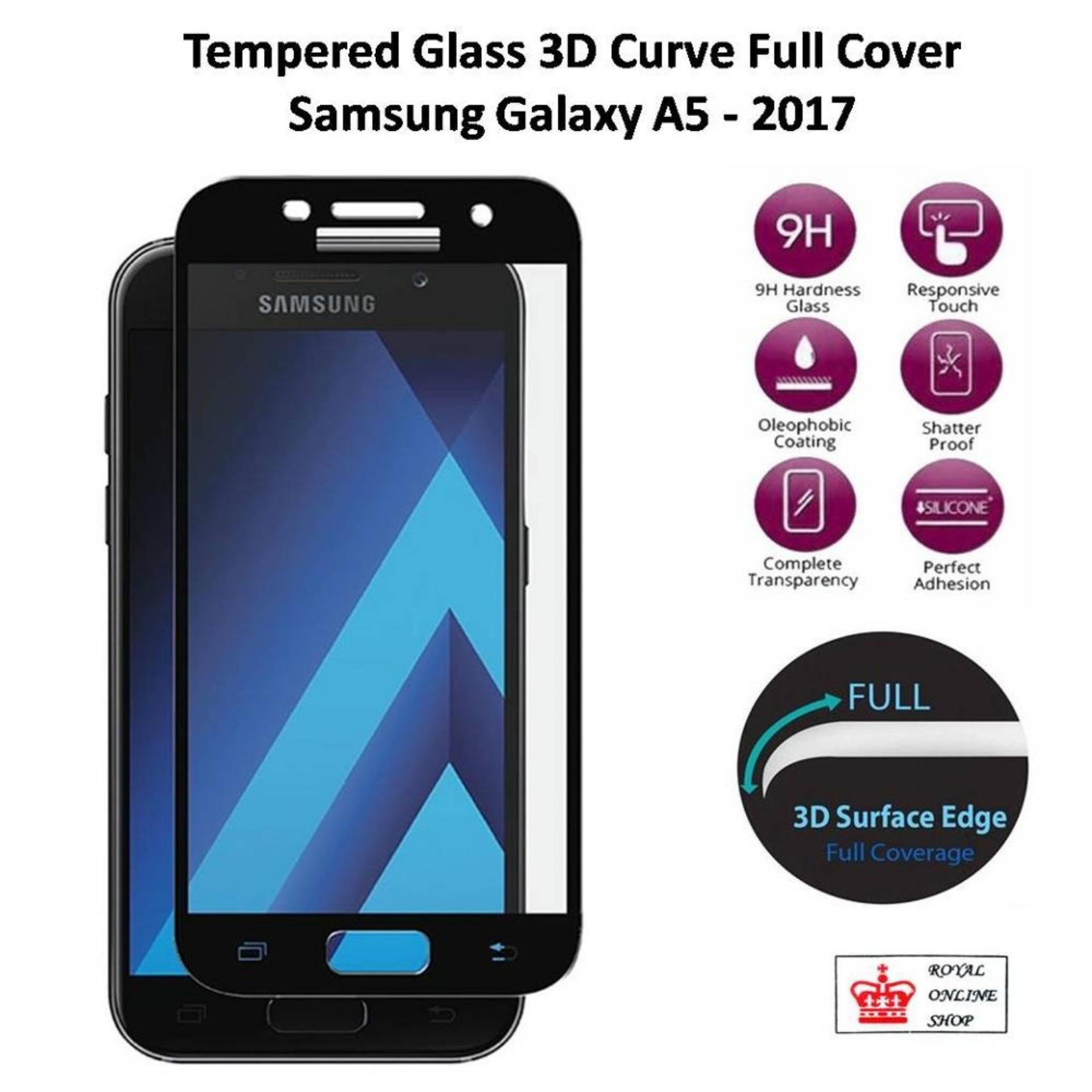 Candy Full Coverage Tempered Glass For Samsung Galaxy A5 2017Screen Protector Film 0 26m 9H Hardness