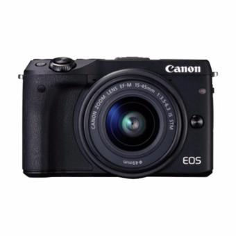 Canon - EOS M3 EF-M15-45 IS STM - Hitam (RESMI PT.DATA SCRIPT)