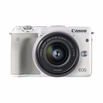 Canon - EOS M3 EF-M15-45 IS STM - Putih (Resmi Datascrip)