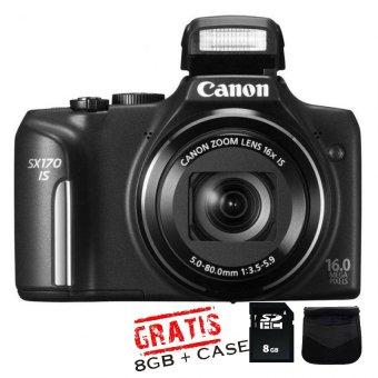 Canon Powershot SX170 – 16 MP - Hitam