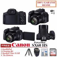 Canon PowerShot SX60 HS + Sandisk Ultra 16GB Class 10 + Tas + GorillaPod + Cleaning Kit