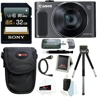 Canon PowerShot SX620 HS Digital Camera (Black) with 32GB Deluxe Bundle - intl