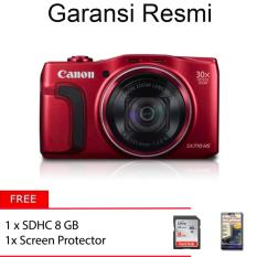 Canon PowerShot SX710 Red + Free Memory 8GB + Free Screen Protector