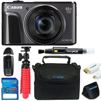 "Canon Powershot SX720 (Black) + 12"" Tripod + 16GB Memory Card + Pixi-Basic Accessory Bundle - intl"