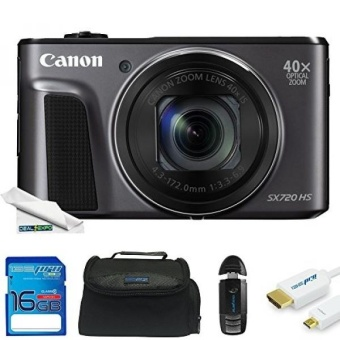 Canon PowerShot SX720 HS 20.3MP Digital Camera + 32 GB Memory Card + Expo-Starter Kit - intl