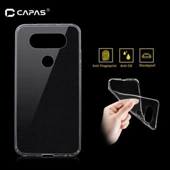 CAPAS untuk LG Q8 Ultra Tipis Transparan Soft TPU Silicone Ponsel Case-Intl