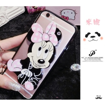 Cartoon Rotating Mirror Case For Samsung Galaxy J2 PrimeBlack Mini Lanyard