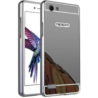 Case Aluminium Bumper Mirror for OPPO Neo 7 - Black