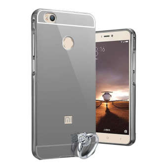 Case Aluminium Bumper Mirror for Xiaomi Mi 4S - Black