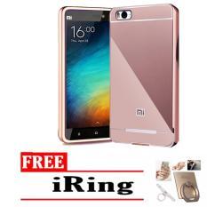 Case Aluminium Bumper Mirror Xiaomi Mi 4i / 4c bumper sleding redmimi 4i - pink rose