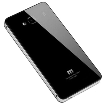 Case Aluminium Tempered Glass Hardcase for Xiaomi Redmi Note 2 - Black/Gray