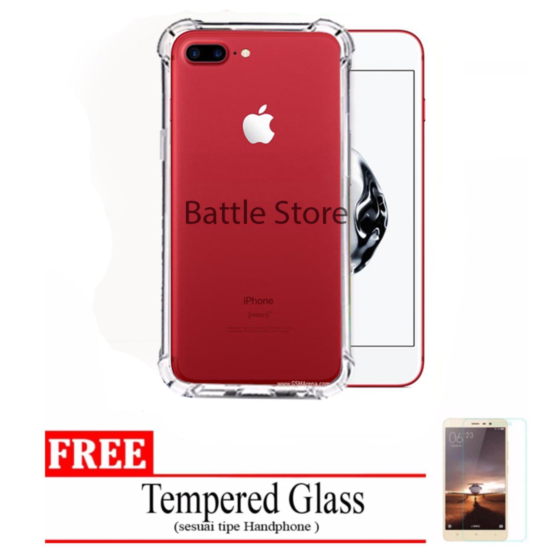 Case Anti Shock / Anti Crack Elegant Softcase for For Apple Iphone 7 Plus + Free