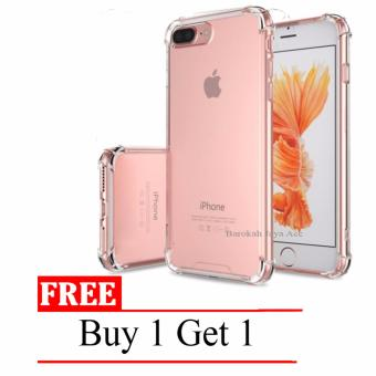 Case Anti Shock / Anti Crack Elegant Softcase for Apple Iphone 7 /7s - Clear + Free Buy 1 Get 1