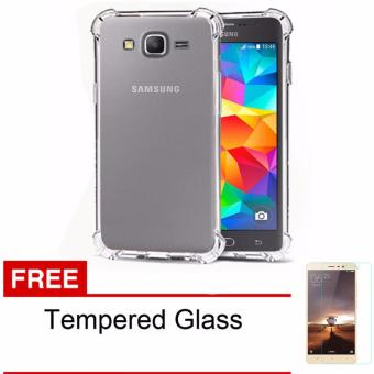 Case Anti Shock / Anti Crack Elegant Softcase for Samsung Galaxy J3Pro - Clear + Free