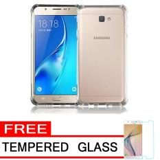 Case Anti Shock / Anti Crack Elegant Softcase  for Samsung Galaxy J5 Prime - White Clear + Free Tempered Glass