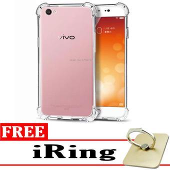 Case Anti Shock / Anti Crack Elegant Softcase for Vivo V5 (Y67) -White Clear + Free iRing