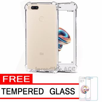 Case Anti Shock / Anti Crack Elegant Softcase for Xiaomi Mi A1 / Xiaomi Mi 5X - White Clear + Free Tempered Glass