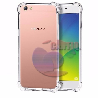 Case Anti Shock Oppo A39 Ultrathin Anti Crack Luxury Softcase Anti Jamur Air Case 0.3mm / Silicone Oppo A39 / Soft Case / Case Hp - Putih Transparant
