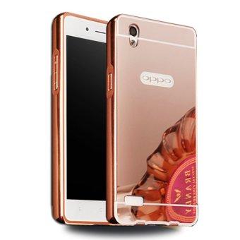 Case Bumper Untuk Oppo Mirror 5 A51W 2 In 1 Slide Mirror Backcase Hardcase Sliding - Rose Pink
