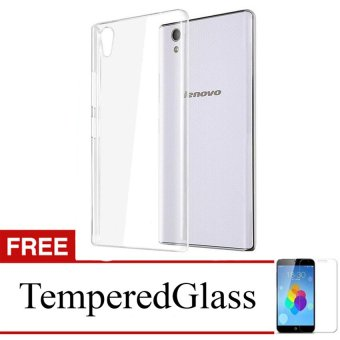 Case for Lenovo S850 - Clear + Gratis Tempered Glass - Ultra Thin Soft Case